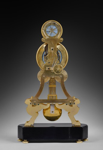 Horology  - A large Directoire/Empire skeleton clock of month duration