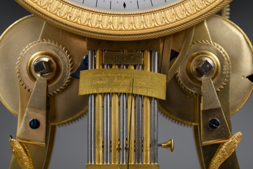 A large Directoire/Empire skeleton clock of month duration -