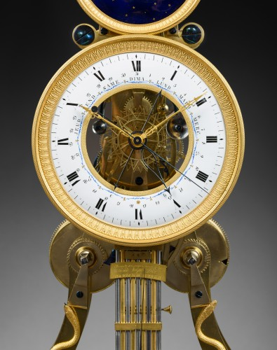 A large Directoire/Empire skeleton clock of month duration - Directoire