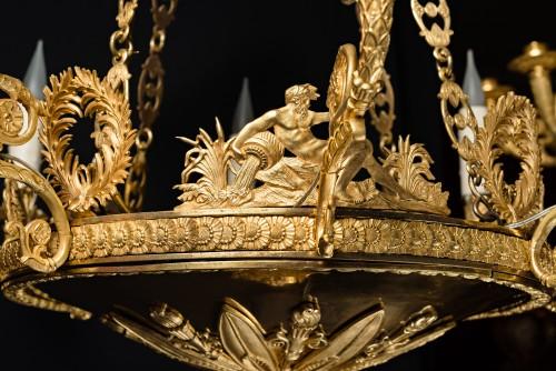 Lighting  - A Russian Empire eight-light chandelier attr. to Andrei Schreiber