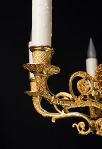 19th century - A Russian Empire eight-light chandelier attr. to Andrei Schreiber
