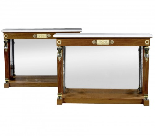 A pair of Empire consoles attributed to Bernard Molitor
