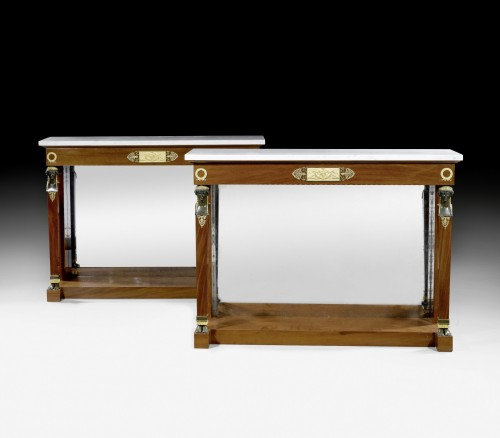 19th century - A pair of Empire consoles attributed to Bernard Molitor
