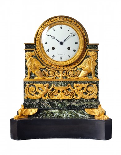 A Restauration mantle clock by Le Paute et Fils Hrs du Roi