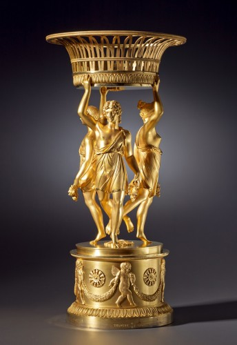 An Empire figural centrepiece by Pierre-Philippe Thomire - Decorative Objects Style Empire