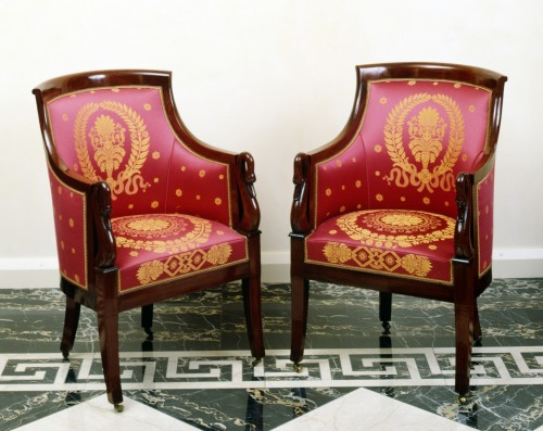 A set of six Empire bergères by Jacob-Desmalter et Cie - Seating Style Empire