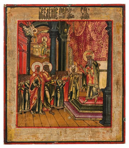 Icon Presentation of the Virgin Mary in the Temple, early nineteenth century