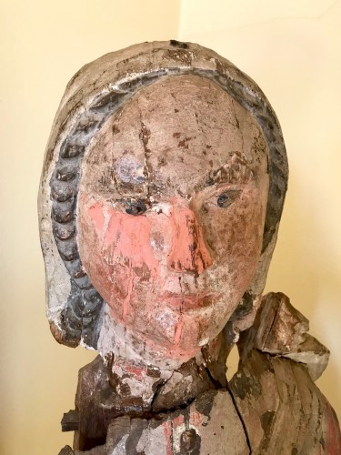 Madonna In painted Wood, Italian School, 14th Century - Middle age