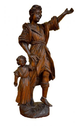 Guardian Angel, Wood Carving, early XVIIIth century