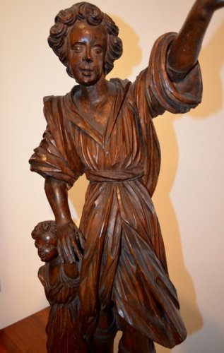 Sculpture  - Guardian Angel, Wood Carving, early XVIIIth century