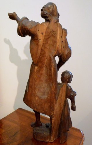 18th century - Guardian Angel, Wood Carving, early XVIIIth century