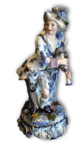 Statue-candlestick Porcelain, Early Nineteenth Century