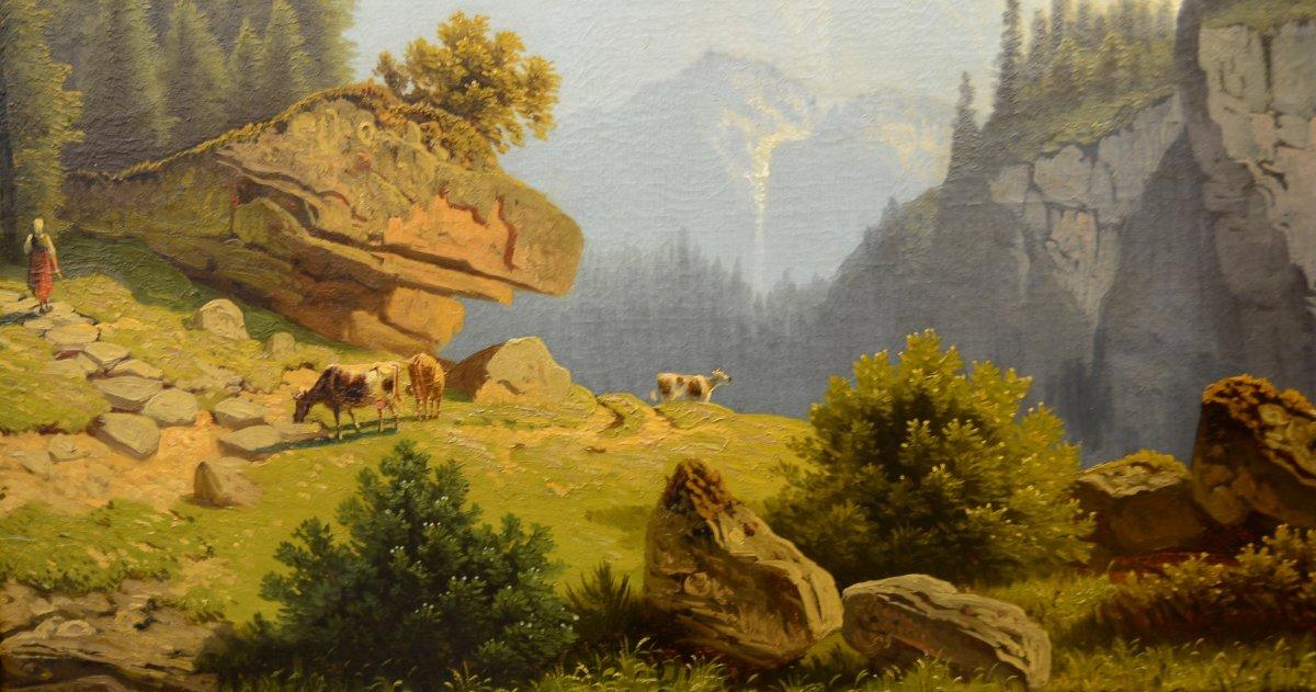 wilhelm theodor nocken 1829 1905 paysage de montagne. Black Bedroom Furniture Sets. Home Design Ideas
