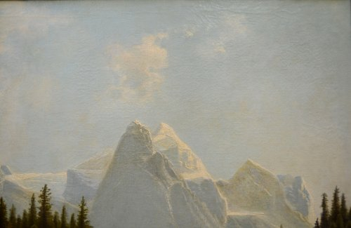 Mountain landscape, oil on canvas, Germany mid-19th -