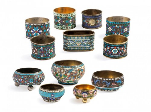 Collection of Russian enamels, Moscow, late 19th - early 20th century