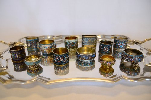 Collection of Russian enamels, Moscow, late 19th - early 20th century - Objects of Vertu Style