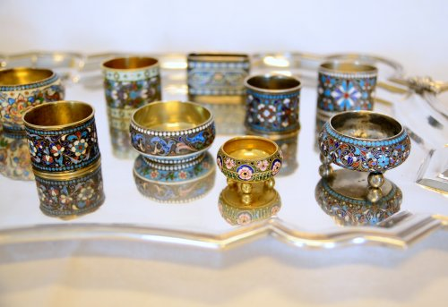 19th century - Collection of Russian enamels, Moscow, late 19th - early 20th century