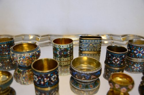 Collection of Russian enamels, Moscow, late 19th - early 20th century -