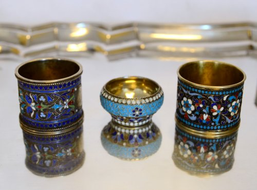 Antiquités - Collection of Russian enamels, Moscow, late 19th - early 20th century