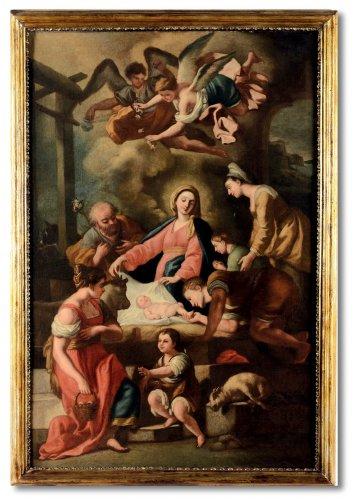 Francesco Solimena, workshop - The Adoration Of The Shepherds, 17th Century