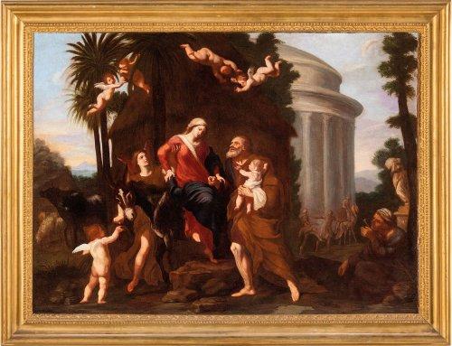 Giuseppe Passeri (Rome, 1654 - 1714) - Rest During The Flight In Egypt