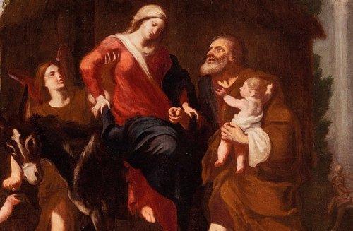 Giuseppe Passeri (Rome, 1654 - 1714) - Rest During The Flight In Egypt -