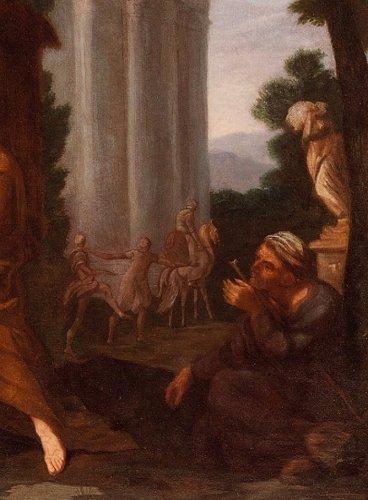 17th century - Giuseppe Passeri (Rome, 1654 - 1714) - Rest During The Flight In Egypt