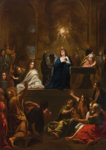 The Descent of the Holy Spirit - French school of the 17th century
