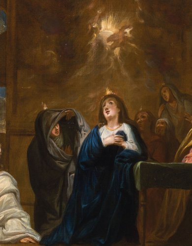 The Descent of the Holy Spirit - French school of the 17th century - Paintings & Drawings Style