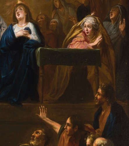The Descent of the Holy Spirit - French school of the 17th century -