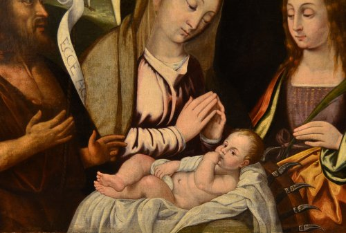 Virgin with Child and Saints - Attributed to Francesco Da Santacroce (1500-1547) - Renaissance