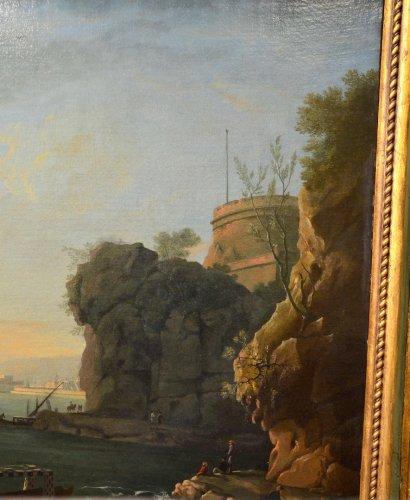 Antiquités - Port landscape - Workshop of Charles François Lacroix of Marseille (1700 - 1782)