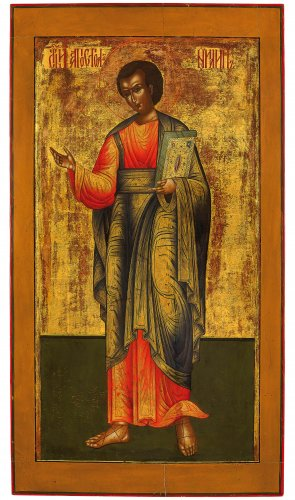Russian icon representing The Apostle Paul - Moscow School late 18th century