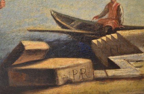 17th century - Landscape with Ruins- workshop of Pietro Cappelli (Naples 1646-1734)