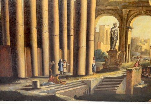 Landscape with Ruins- workshop of Pietro Cappelli (Naples 1646-1734)  -