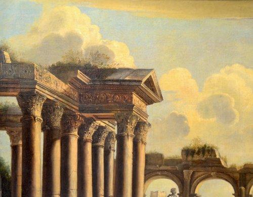 - Landscape with Ruins- workshop of Pietro Cappelli (Naples 1646-1734)