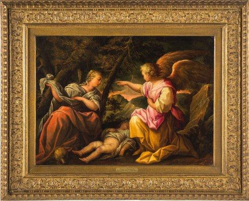 Maffeo Verona (1576-1618) - The Angel save Hagar and Ishmael