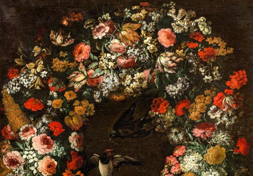 Niccolò Stanchi (Rome 1623 -1690) - Garland of Flowers -