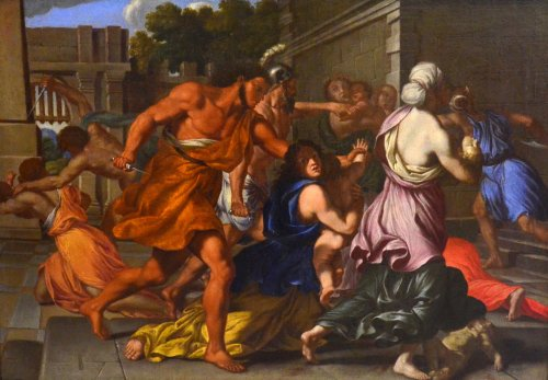 The Massacre of the Innocents - Giacinto Gimignani (1606 - 1681) - Paintings & Drawings Style Louis XIV