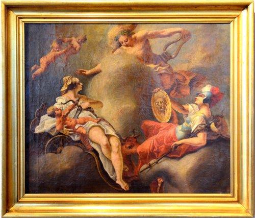 Reunion of Venus, Minerva and Apollo - French school of the 17th century