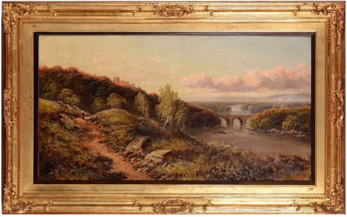 View of the English countryside - Edmund John Niemann (London, 1813 - 1876)