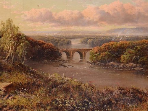 View of the English countryside - Edmund John Niemann (London, 1813 - 1876) - Paintings & Drawings Style