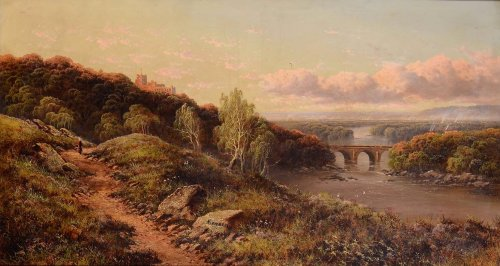View of the English countryside - Edmund John Niemann (London, 1813 - 1876) -