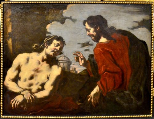 Antonio Zanchi (1631 - 1631) - Noli Me Tangere /Christ redeems a sinner - Paintings & Drawings Style