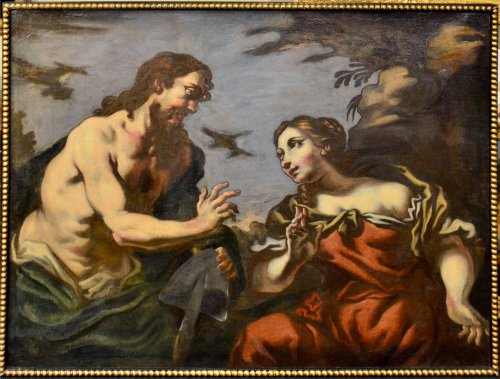 Paintings & Drawings  - Antonio Zanchi (1631 - 1631) - Noli Me Tangere /Christ redeems a sinner