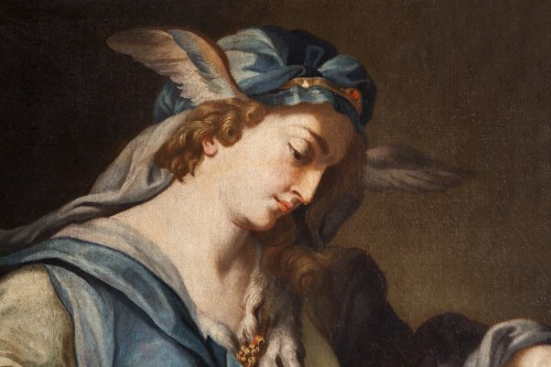 Paintings & Drawings  - Urania, Muse Of Astronomy - 18th century italian school, attributed to Francesco Trevisani (1656 - 1746)