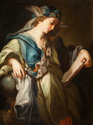 Antiquités - Urania, Muse Of Astronomy - 18th century italian school, attributed to Francesco Trevisani (1656 - 1746)
