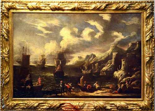 Flemish School of the 17th Century - Charming View Of The Coast