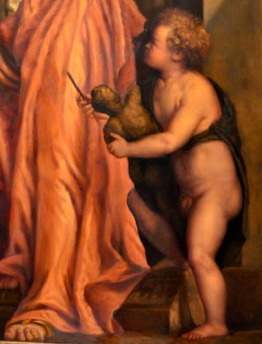 Allegory Of Sculpture - Venetian School Of The Eighteenth Century -