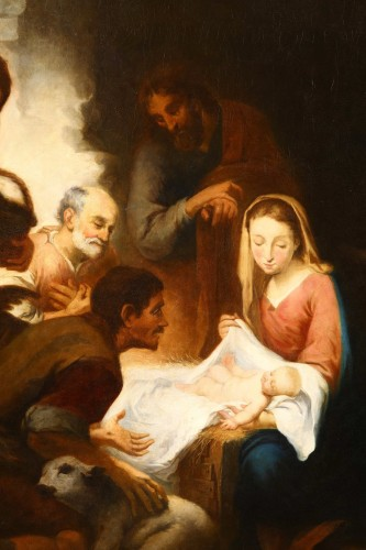 17th century - Nativity, Entourage Esteban Murillo